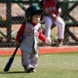 litle boy by Alfonso Emmanuel Galina - Sports & Fitness Baseball ( baseball, children )