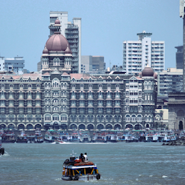 Gateway of India skyline by Amit Bhattacharjee - Buildings & Architecture Office Buildings & Hotels ( mumbai, gateway of india, launch, sea, arabian sea )