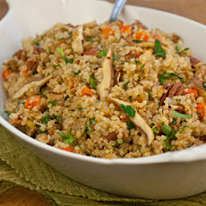 Serious Salads: Warm Quinoa Pilaf Salad with Shiitake Mushrooms, Carrots & Pecans