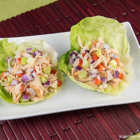 Healthy Chipotle Chicken Vegetable Lettuce Wraps