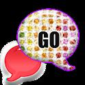 GO SMS - Rainbow Diamonds icon