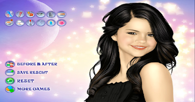 Screenshot of Selena Gomez Makeover