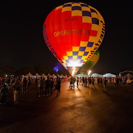 6th Putrajaya International Hot Air Balloon Festival by Gavin Lee - News & Events World Events ( malaysia, night, balloon )