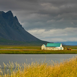 Isolated by Mike O'Connor - Landscapes Mountains & Hills ( farm, isolated, iceland, lonely, coast )