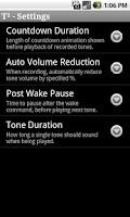 Screenshot of T² Hearing Adjuster