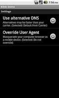 Screenshot of Klink Demo - Tether w/o root