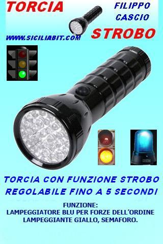 torcia flashlight strobe