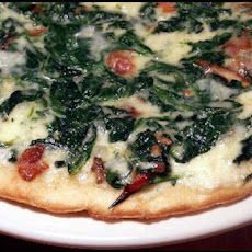 Pepper-Jack & Spinach Pizza Pie