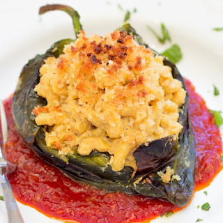 Macaroni and Cheese Stuffed Chile Peppers