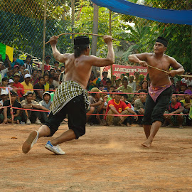 Rattan Fighting Called Ojung by Naufal Domas Tahta Ahmada - News & Events Entertainment ( ojhung, east java, bondowoso, ojung, culture )