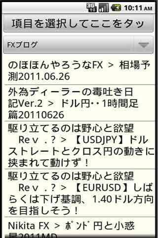 ポジション前のFX情報