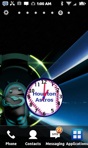 Houston Astros Clock Widget