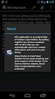 Screenshot of NFC Visit Card