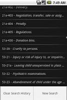 Screenshot of CTLaw - Criminal Law 21a, 53/a
