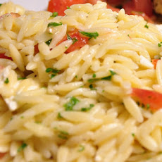 Orzo with Tomatoes and Pesto