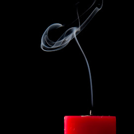 Candle Smoke by Indrajit Dutta - Artistic Objects Other Objects