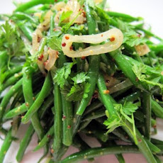 Warm Green Bean Salad with Shallots and Mustard