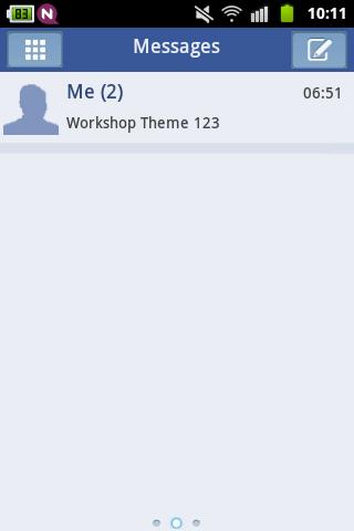 GO短信主題藍白色