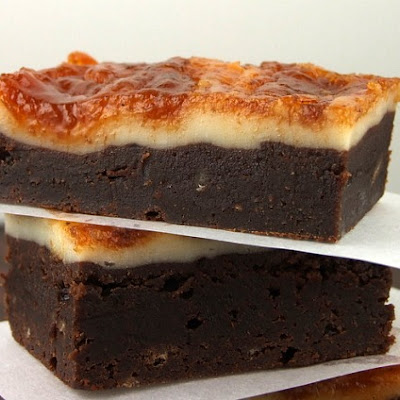 Cheesecake Topped Brownies w/ Pumpkin Butter Swirl