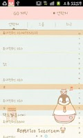 Screenshot of Pepe-icecream Go sms theme