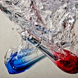 Bubbles by Choky Ochtavian Watulingas - Artistic Objects Business Objects ( water, bubble, bubbles, parfume, sink, csv, bottles, bottle, bottle of parfume, drown )