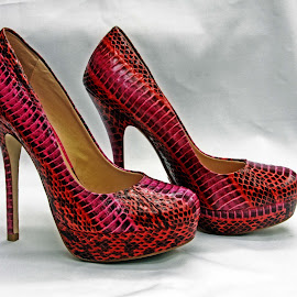 Red black high heels by Michael Moore - Artistic Objects Clothing & Accessories ( shoes, high heels,  )