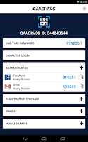 Screenshot of SAASPASS Authentication 2FA