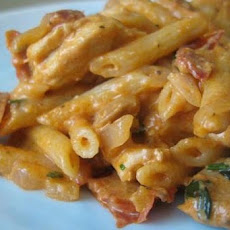 Macaroni With Creamy Sun-Dried Tomato and Pancetta Sauce