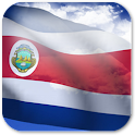 3D Costa Rica Flag icon