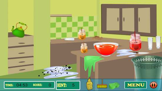 Clean Kitchen Game - screenshot