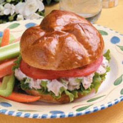 Barbecued Chicken Salad Sandwiches