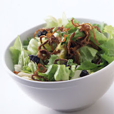 Escarole Salad with Fried Shallots and Prunes