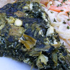 Low Carb Crustless Greek Spinach Pie