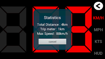 Screenshot of GPS HUD Speedometer