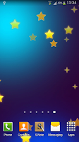 Screenshot of Galaxy S5 Stars Live Wallpaper