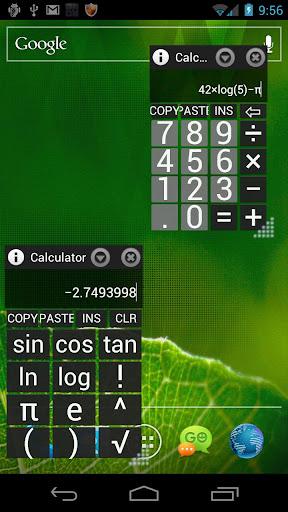 AirCalc屏幕上的計算器