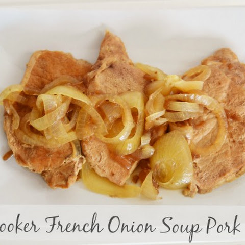 Slow Cooker French Onion Soup Pork Chops Recipe #Labels4Edu #Cbias