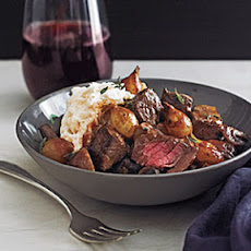 30-Minute Filet Bourguignonne with Mashed Potatoes