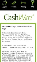 Screenshot of Cashwire Payday Loans