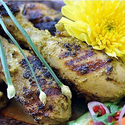 GRILLED COCONUT CHICKEN WITH LEMON BASIL RECIPE (Ayam Panggang Sulawesi)