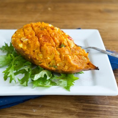 Stuffed Curry Sweet Potato