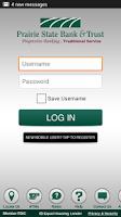 Screenshot of Prairie State Bank Mobile