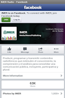 Screenshot of IMER Radio