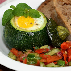 Eight-Ball Zucchini With Eggs Baked Inside