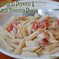Roasted Red Pepper and Sun-Dried Tomato Pasta with Chicken
