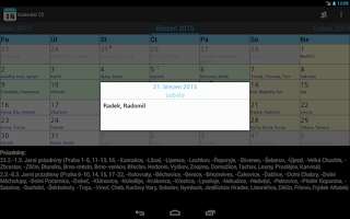 Screenshot of Kalendář CZ