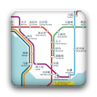 Hong Kong MTR subway map icon