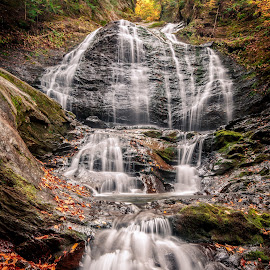 Moss Glen Falls by David Long - Landscapes Waterscapes ( moss glen falls, waterfall, vermont )