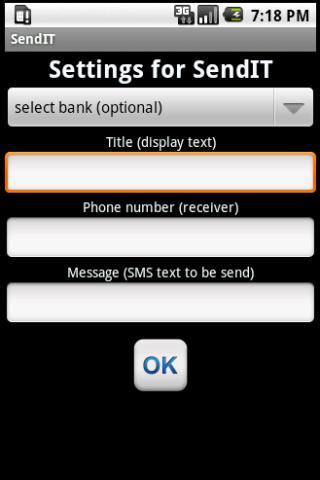 SendIT Widget