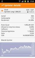Screenshot of ING Sprinter app